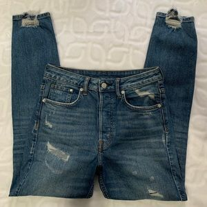 Vintage High Rise Distressed Jeans